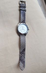 Fossil Watch with Snake Print Leather Band